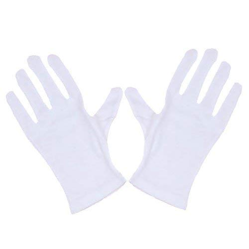 Fliyeong 2 Paar Zauberer Clown Kostüm Zaubertrick Handschuhe Weiß Langlebig und praktisch