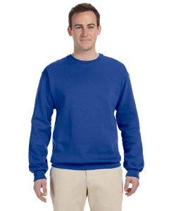 JERZEES - Crewneck Sweatshirt. 562M - XX-Large - Royal Poly Crewneck Fleece Sweatshirt
