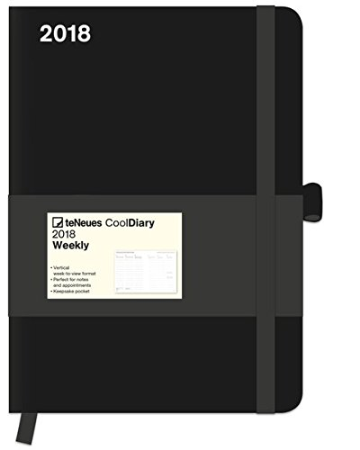 2018 Black Diary - teNeues Cool Diary - Weekly 16 x 22 cm