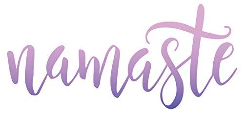 """I-love-Wandtattoo WAS-12097 Indien Wandtattoo \""""Indischer Schriftzug mit dem Wort Namaste in lila blauen Farben\'\' Indiisches Motiv zum Kleben Begrüßung Wohnzimmer Sprache Schlafzimmer Verzierung Wandaufkleber bunt Sticker Design Aufkleber XXL"""