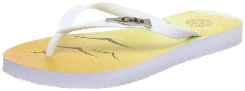 Coca Cola Cc0183, Sandales femme Blanc (White)