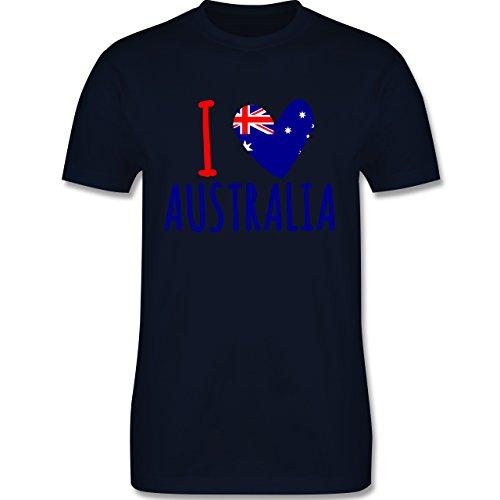 I love - I love Australia - Herren Premium T-Shirt Navy Blau