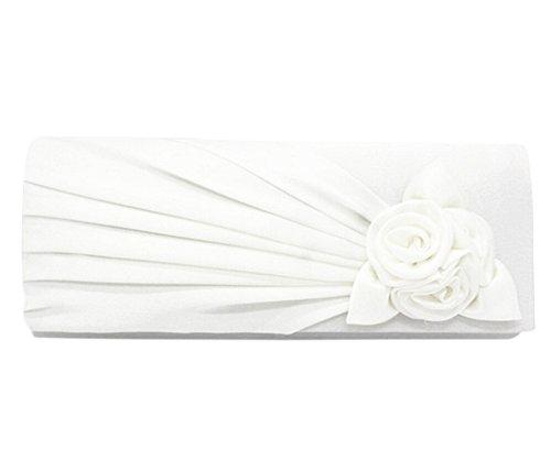 Sac à main de Mariée Sacs de Soirée Fleur Rose Fête...