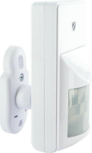 Schwaiger hga300532Passiver Infrarot-Sensor (PIR) Wireless Wand weiß Bewegung Bewegungsmelder-Sensor (Passiv Infrarot-Sensor (PIR), kabellos, 250m, Akku, 6LR61, 9V)