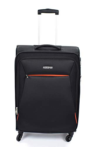 American Tourister 89726-0581 bolsa de equipaje Tranvía Negro Poliéster - Bolsa de viaje (Tranvía, Negro, Poliéster, 4 rueda(s), Cremallera, 1 pieza(s))
