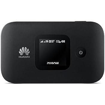 Huawei E5577 noir 4G LTE 150 mégabit/s Modem Hotspot WiFi USB, Batterie 1.500 mAh, 2 x TS9.