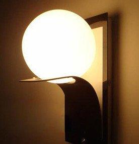 & Wandleuchten LED Rost verstreut Ball Schlafzimmer Wohnzimmer Wand Lampe Treppenhaus Wand Korridor Wand Lampe Zimmer Licht Nachttisch Wand Lampe E14 ( Farbe : Schwarz ) Rost Ball