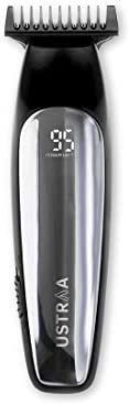 Ustraa Chrome Beard Trimmer for men Corded & Cordless with Quick Charging & Titanium Coated Stainless