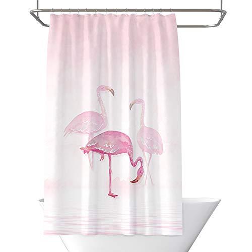 SMCOOL Pink Flamingo Duschvorhang Mit 12 Haken,