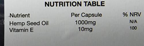 Hanföl 1000 mg, 180 Softgel-Kapseln. Höchste Stärke. 6-Monats-Vorrat.