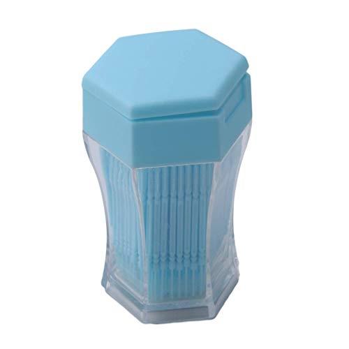 Carry stone Premium-Qualität 200 Stück Kunststoff Zahnstocher Zahnstocher Zahnstocher Zahnbürste Zahnstocher Zahnpflege Zahnstocher mit Aufbewahrungskoffer