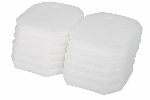 LTWHOME Weißer Feiner Filterschwamm Passend für Eheim 2616225 Professional 2222/2324 und Experience 150/250/250T (12 Stück)