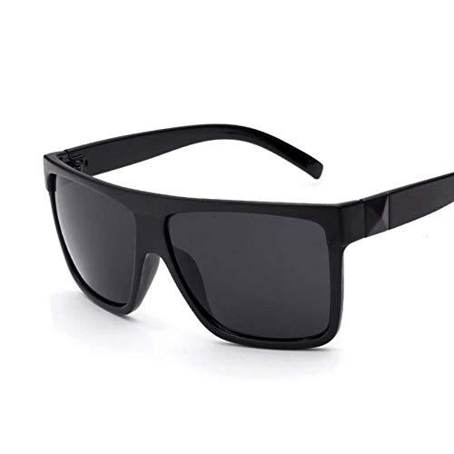 Taiyangcheng Männer Sonnenbrillen Frauen Platz Übergroßen Großen Vollformat Sonnenbrille Uv400 Spiegel Brille Outdoor Driving,Schwarz