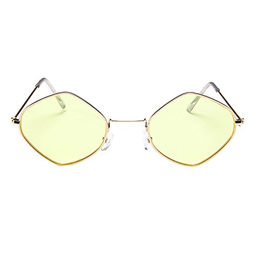 Honestyi Mode Herren Damen Retro Diamant Sonnenbrille Metallrahmen Shades Eyewear Neutrale Diamant Sonnenbrille # 3549