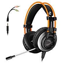 Gaming Headset für PS4Xbox One, micolindun über Ohr Gaming Kopfhörer mit Mikrofon, Stereo, Bass Surround, Noise Reduction für Laptop, PC, Mac, iPad, Smartphones