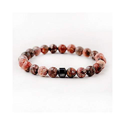 Irener Armband aus Glasperlen, Cylinder Beaded Bracelets for Men Classic Nature Stone Beads Charm Bracelets&Bangles Homme Yoga Jewelry Gift AB693-10 -
