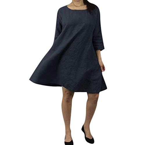 TITIU Damen Plus Size Unregelmäßige Mode Lose Leinen Kurzarm Shirt Vintage Bluse Tank Tee Oberteil Top(X5-Schwarz,XXL)