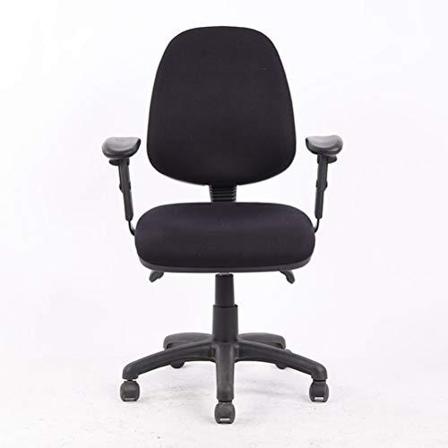 YUHT Büro-Stühle,Fabric Operator-Sitzmöbel,Bürostuhl, Computerstuhl, Office Fabric Operator-Stühle, 2-Hebel-Leiterplatte, ergonomisches Design, (schwarz, verstellbare Arme) -