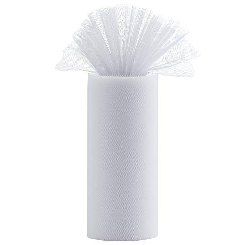 Diealles tulle bianco, tulle rotolo 22mx15cm banchetti nozze tulle diy mestiere tutu matrimonio regalo decorazione wraping tulle