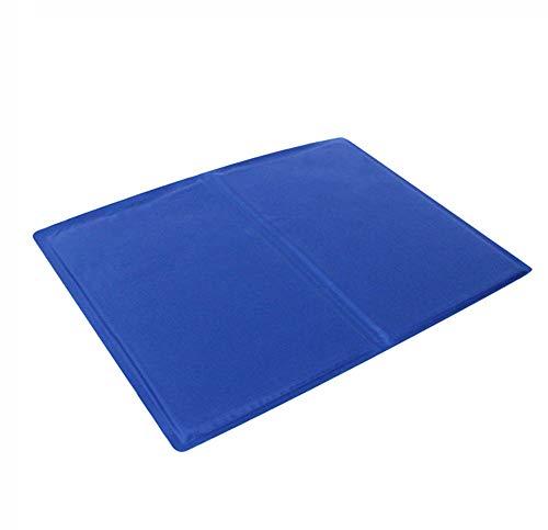 Qnlly Haustiere Haustier Hund Selbstkühlende Matte Pad für Zwinger, Kisten und Betten (blau),L - Aushärtung Trockner