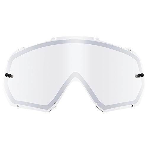 O'Neal Ersatz Doppel Scheibe B-10 Goggle Moto Cross MX DH Downhill Brille Zubehör, 6024-9, Farbe Silber Verspiegelt