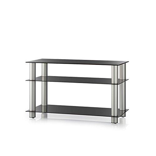 FINLUX Sonorous schwarz Glas 3Regal TV Ständer für Fernseher bis 119,4cm -