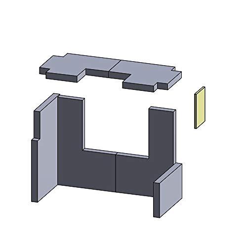 Flamado Feuerraumauskleidung Türstein geeignet für passend für Hark Kamin Ersatzteile Kaminofen Brennraumauskleidung Vermiculite 164 x 110 x 10 mm 1.150°C