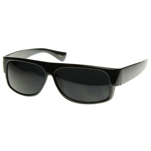 SunglassUP Original Og Mad Dogger Locs Shades Sonnenbrille W/Super dunkle Linse 1 regulär schwarz