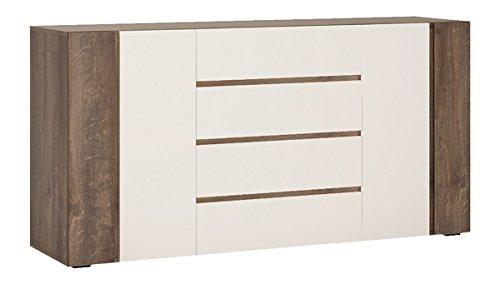 Wohnwand Wohnzimmer Set 4-teilig 220916 hidalgo / weiß Hochglanz - 3