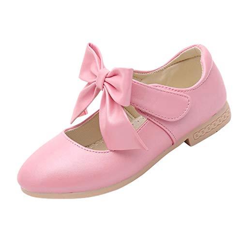YASSON Mädchen Schuhe Flach Vintage Einfarbig Little Lady Prinzessin Vintage Abendmode Große...