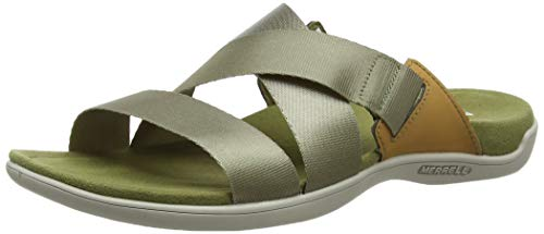 Merrell Damen District Maya Slide Sandalen, Grün (Olive Drab), 38 EU -