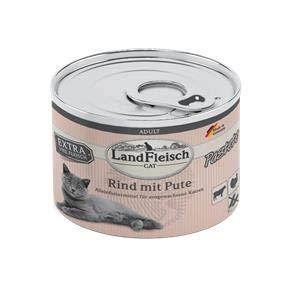 Landfleisch Cat Adult Pastete Rind+Pute   6X 195g Katzenfutter