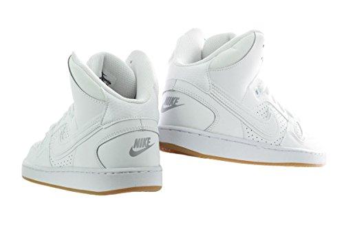 Nike Jungen Son of Force Mid (Gs) Basketballschuhe, Schwarz, Talla white-white-gum light brown-wolf grey (615158-107)
