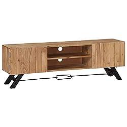 ,recyceltes Massivholz,Fernsehschrank Fernsehtisch Sideboard Tidyard TV Schrank mit 2 Schubladen 1 Fach 2 T/üren TV Board M/öbel Lowboard,Abmessungen:120 x 30 x 40 cm B x T x H