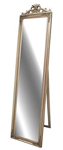 Livitat LV8751-S Stand-/ Ankleidespiegel Barock Landhaus, 180 cm, antik silber