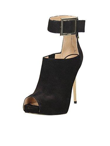 Scarpe Tronchetti Eleganti Donna Guess in pelle scamosciata Mod. SHILVY SUEDE ANKLE BOOT FL4SHISUE07 Col. Nero (39).