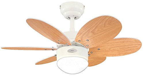 31SERrviIzL - Westinghouse Ceiling Fans 78673 Turbo II One-Light 76 cm Six-Blade Indoor Ceiling Fan, White Finish with Opal Frosted…