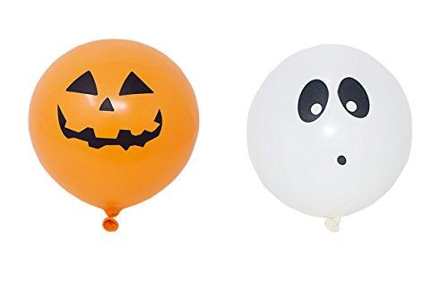 host und 5 Kürbis Illoom Light up LED Ballons Halloween Ballons Packs von 10 bis 50 Spooky wie gesehen auf Dragons den Light up Ballons Party Dekor leuchtende Ballons (Die Bedeutung Von Halloween Kürbisse)