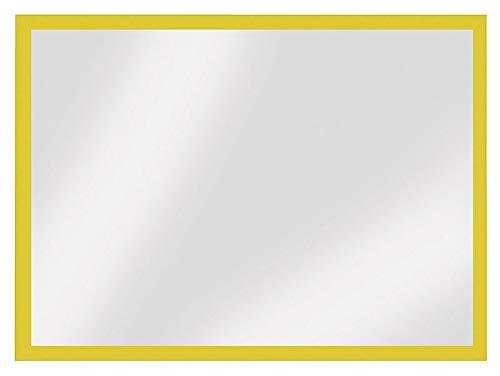 Veloflex 3604010 Magnetrahmen DIN A4, 3 Seitig mit Magnetstreifen, Gelb, Inforahmen, Dokumentenhalter, 5 Stück (Magnetische Wand-tasche Streifen)