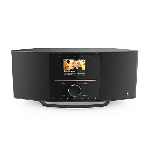 Hama Internetradio mit CD-Player & DAB+ (WLAN/Digitalradio/UKW/CD/Bluetooth/USB/AUX, Spotify/Amazon Music, Multiroom, 40W, Farbdisplay, Steuerung per Fernbedienung/gratis App, Radio-Wecker) WLAN-Radio