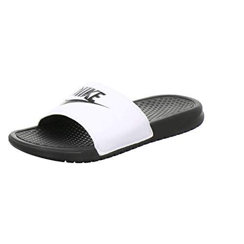 Nike Badeschlappen Herren Benassi Größe 49.5 EU Weiß (weiß)