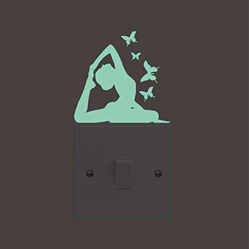 HauWeiWei® Wandaufkleber Abziehbilder Geeignet Für Kinderzimmer Tanzsaal Tanz Ballett Tango Schalter Licht Aufkleber Aufkleber Wandaufkleber Schlafzimmer Wohnkultur Wohnzimmer