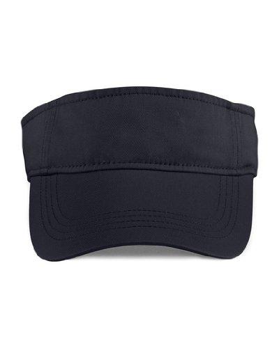 Anvil Unisex offenes Twill Visor Sport Cappie 158 Black OneSize (Golf Visor Für Damen)
