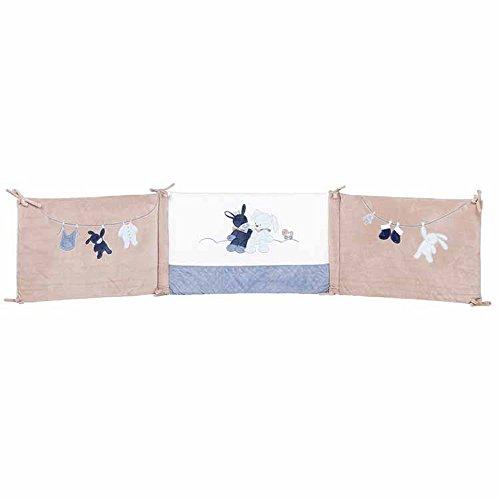 Nattou Tour de lit Bébé 70x140 cm et 60x120 cm, Garçon, bleu - Alex et...
