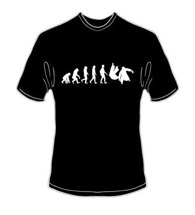 schweres Qualitäts T-Shirt Evolution Aikido Farbe schwarz