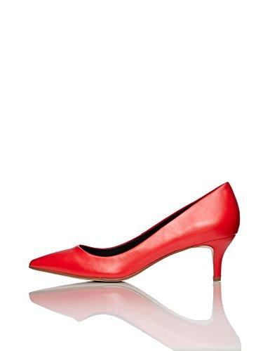 FIND Damen Pumps mit Kitten-Heels, Rot (Red), 39 EU