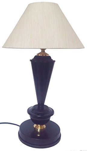 Black with Golden Base Table Lamp with 10