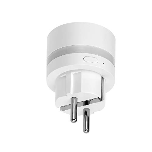 Festnight Presa Intelligente, Wifi Smart Plug, Plug con Misurazione del Consumo + Funzione di Cronometraggio + APP Controllabile da Remoto con Illuminazione Notturna a LED