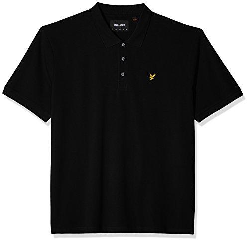 Lyle & Scott Herren Poloshirt Plus Size Plain Polo Shirt Black (True Black 572)