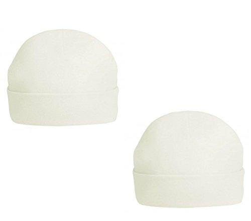QI - Chapeau - Bébé (garçon) 0 à 24 Mois Blanc Blanc 0-3 Mois - Blanc - Taille Unique